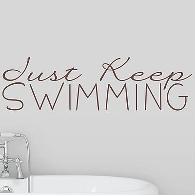Wallums Wall Decor Just Keep Swimming Wall Decal; Chocolate Brown