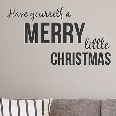 Wallums Wall Decor Have Yourself a Merry Little Christmas Wall Decal; Black