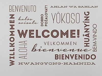 Wallums Wall Decor Welcome Words Wall Decal; Chocolate Brown