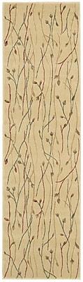 Winston Porter Heuser Hand-Woven Ivory Area Rug; Runner 2'3'' x 8'
