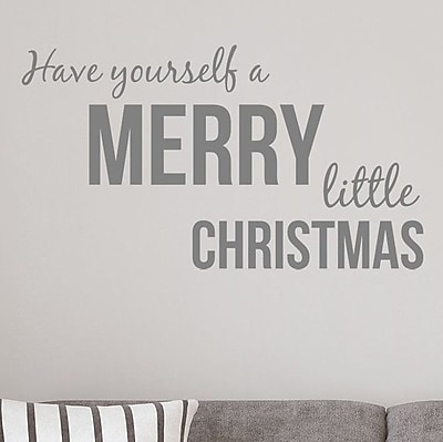 Wallums Wall Decor Have Yourself a Merry Little Christmas Wall Decal; Gray