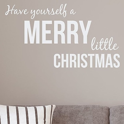Wallums Wall Decor Have Yourself a Merry Little Christmas Wall Decal; White