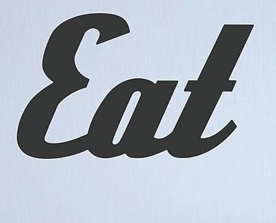Wallums Wall Decor Retro Eat Wall Decal; Black