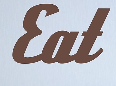 Wallums Wall Decor Retro Eat Wall Decal; Chocolate Brown