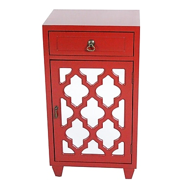 Heather Ann Accent Cabinet; Red