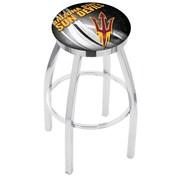 Holland Bar Stool NCAA 30'' Swivel Bar Stool; Arizona State Sun Devils with Pitchfork logo