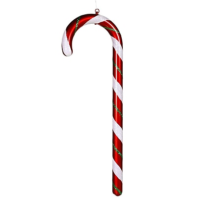 Vickerman Peppermint Twist Commercial Size Glitter Candy Cane Christmas Ornament