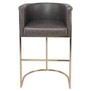 Everly Quinn Xamiera Bar Stool; Gray