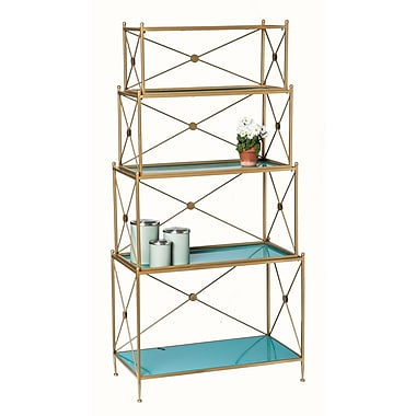 Everly Quinn Hilal 4 Tiered Metal Etagere
