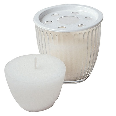 Bougies La Francaise Refill Wax For Glass Votive 50300, White, 16/Pack