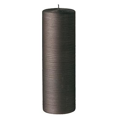 Bougies La Francaise Very Large Pillar Silk, Brown Moka, 4/Pack