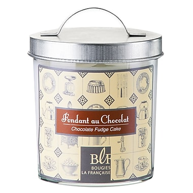 Bougies La Francaise Gourmet Scented Candle In Glass With Galvanized Lid, Chocolate Fudge Cake, 6/Pack