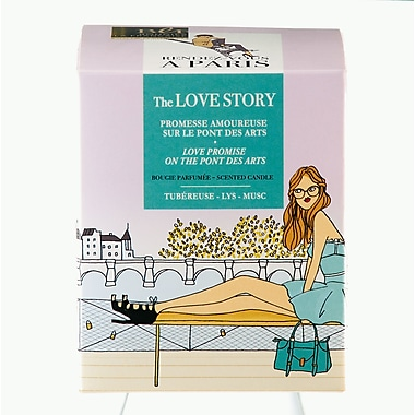 Bougies La Francaise Rdv A Paris Scented Candle Gift Box, The Love Story, 6/Pack