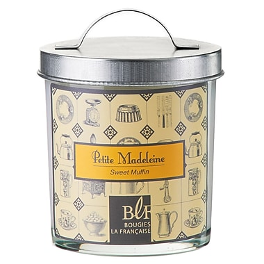Bougies La Francaise Gourmet Scented Candle In Glass With Galvanized Lid, Sweet Muffin, 6/Pack