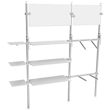 Eddie's Hang-Up Display Ltd. – Système d'étalage Kupo à pôle extensible, 6 tablettes, 2 porte-enseignes (KUPO003)
