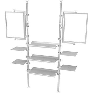 Eddie's Hang-Up Display Ltd. – Système d'étalage Kupo à pôle extensible, 2 porte-enseignes, 7 tablettes (KUPO005)