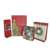 "Eddie's Hang-up Display Ltd (226001) Happy Holidays Medium Shopper, 8 1/2"" x 4"" x 10"", 120/Case"