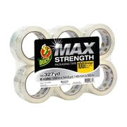 "Duck Brand MAX Strength Packing Tape, 1.88"" x 54.6 Yd., Clear, 6/Pack (241513)"