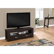 """Monarch Specialties 2 Storage Drawers TV Stand, 48"""" L, Cappuccino (I 2600)"""