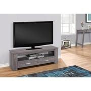 "Monarch Specialties 2 Storage Drawers TV Stand, 48"" L, Grey (I 2603)"