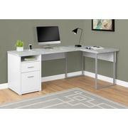 "Monarch Specialties Left Or Right Facing Computer Desk, 80""L, White/Cement (I 7258)"