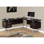 "Monarch Specialties Left Or Right Facing Computer Desk, 70""L, Cappuccino (I 7305)"