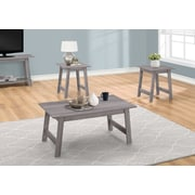 Monarch Specialties 3-Piece Table Set, Grey (I 7932P)