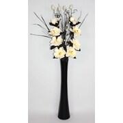 Lighted Elements Magnolia Sanoh Natural Artifical Floral Arrangement with Mango Wood Vase (LE-SH-004)