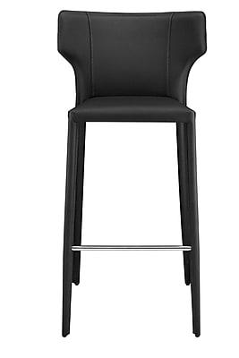 Orren Ellis Wilfried 30'' Bar Stool; Black