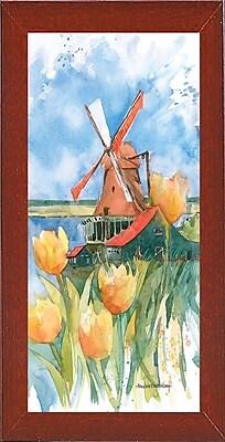 Highland Dunes 'Dutch Vignette' Framed Graphic Art Print; Red Mahogany Medium Framed