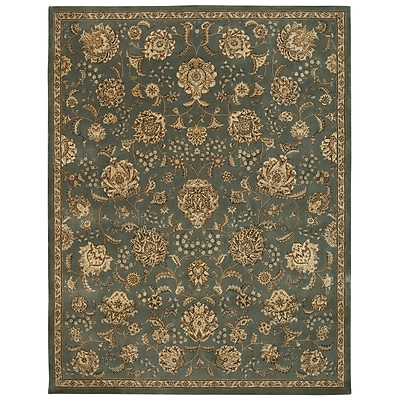 Darby Home Co Greenwood Hand Woven Wool Mist Indoor Area Rug