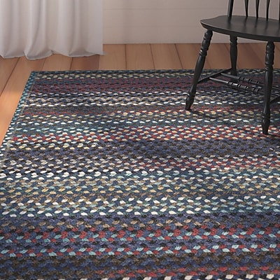 August Grove Heidi Reversible Green/Red Area Rug; Square 5'6''