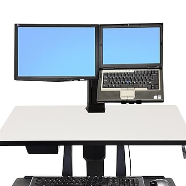 Ergotron WorkFit Single Monitor LCD & Laptop Kit, Black (97-907)