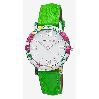 Laura Ashley Ladies Floral Bezel Watch