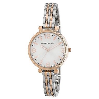Laura Ashley Ladies Two Tone Link Bracelet Watch