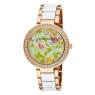 Laura Ashley Ladies White Summer Duck Egg Dial Watch (LA31007WT)