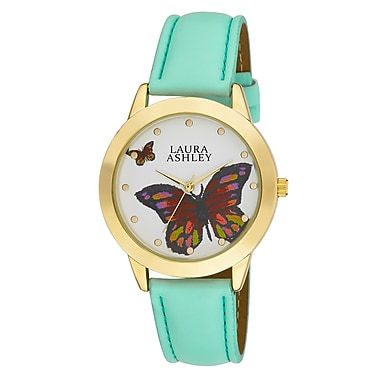 Laura Ashley Ladies Butterfly Dial Watch