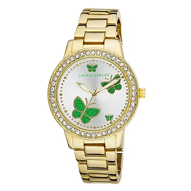 Laura Ashley Ladies Band Butterfly Stone Bezel Watch