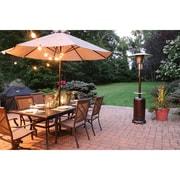 Hanover 7-Ft. 41,000 BTU Steel Umbrella Propane Patio Heater in Hammered Bronze