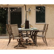Hanover Mini Pyramid Tabletop Propane Patio Heater in Hammered Bronze