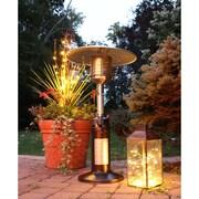 Hanover Mini Umbrella Tabletop Propane Patio Heater in Hammered Bronze