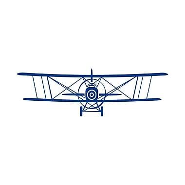 Decal House Airplane Nursery Wall Decal; Blue