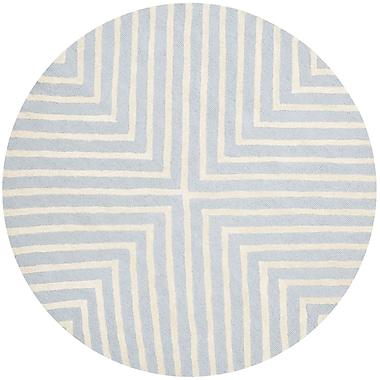 George Oliver Weybridge Light Blue/Ivory Area Rug; Rectangle 6' x 9'