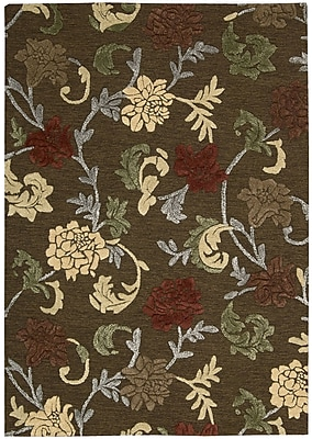 Alcott Hill Lymon Hand-Tufted Brown Area Rug; Rectangle 3'6'' x 5'6''