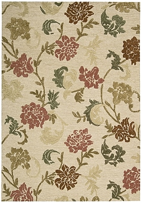 Alcott Hill Lymon Hand-Tufted Buff Area Rug; Rectangle 5'3'' x 7'5''