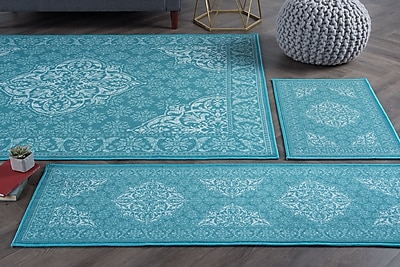 Darby Home Co Warrensville 4 Piece Teal Area Rug