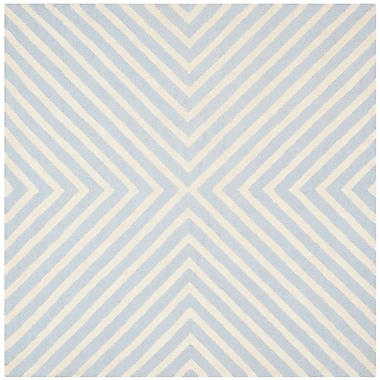 George Oliver Weybridge Light Blue/Ivory Area Rug; Square 6'