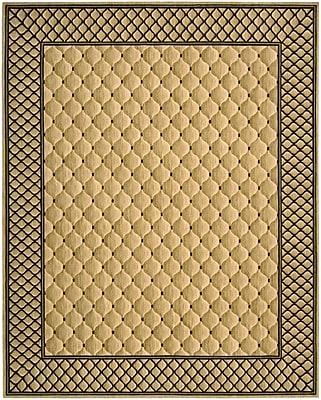 Astoria Grand Bryn Beige/Black Area Rug; Rectangle 9'9'' x 13'9''