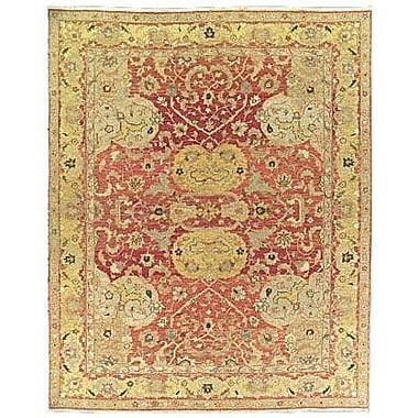 Bloomsbury Market Pierson Hand-Woven Rust/Gold Area Rug; Rectangle 5'10'' x 8'10''