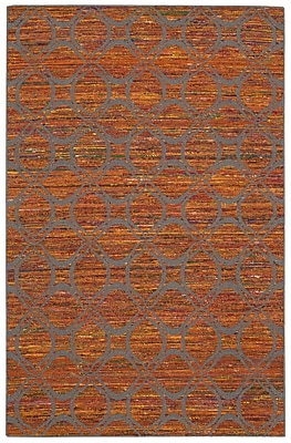 Bloomsbury Market Pine Grove Hand-Woven Flame/Gray Area Rug; Runner 2'6'' x 7'6''